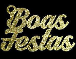 Tag Boas Festas Glitter Dourado Sonho Fino Rizzo Confeitaria
