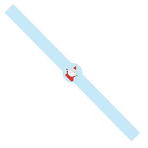Tiras de Natal Papai Noel Azul para Embalagens com 5un. Rizzo Confeitaria