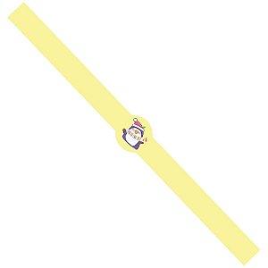 Tiras de Natal Pinguim Natalino Amarelo para Embalagens com 5un. Rizzo Confeitaria