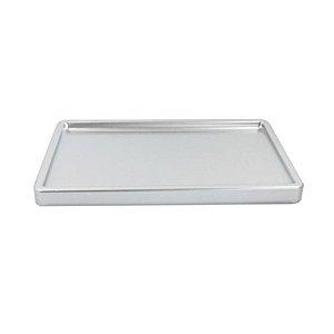 Bandeja Retangular Prata Premium BD-R 300X180 Só Boleiras Rizzo Confeitaria