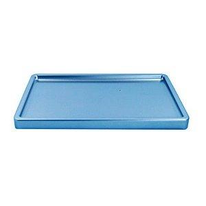 Bandeja Retangular Azul Claro Candy BD-R 300X180 Só Boleiras Rizzo Confeitaria