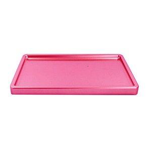 Bandeja Retangular Rosa Claro BD-R 300X180 Só Boleiras Rizzo Confeitaria