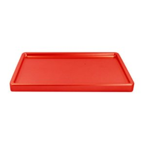 Bandeja Retangular Vermelha BD-R 300X180 Só Boleiras Rizzo Confeitaria
