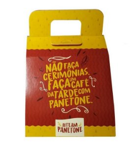 Sacola de Papel para Panetone 250g com 10 un. Sulformas Rizzo Confeitaria