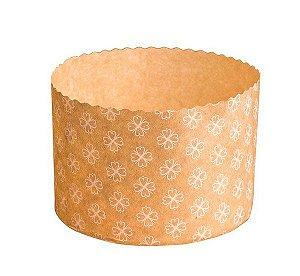 Forma para Panetone Decorada Marrom 500 g com 12 un. Ecopack Rizzo Confeitaria