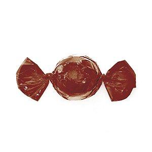 Embalagem Mini Trufa - 12x12,5cm - Castanho - 100 unidades - Cromus Páscoa 2020 - Rizzo Confeitaria