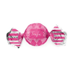 Embalagem Trufa 15x16cm - Vichy Pink - 100 unidades - Cromus - Rizzo Confeitaria