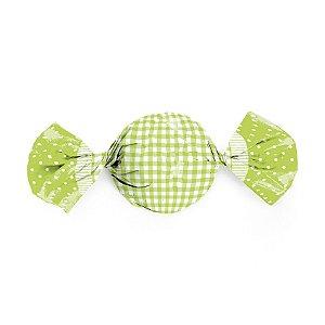Embalagem Trufa 15x16cm - Xadrez Verde - 100 unidades - Cromus - Rizzo Confeitaria