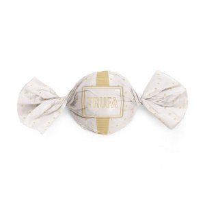 Embalagem Trufa 15x16cm - Petit Poá Branco e Ouro - 100 unidades - Cromus - Rizzo Confeitaria