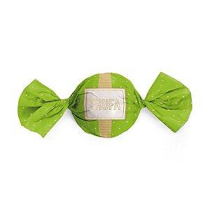 Embalagem Trufa 15x16cm - Petit Poá Verde e Ouro - 100 unidades - Cromus - Rizzo Confeitaria