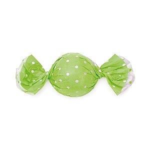 Papel Trufa 14,5x15,5cm - Poa Double Face Verde - 100 unidades - Cromus - Rizzo