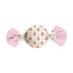 Embalagem Trufa 15x16cm - Floral Vita Marfim e Rosa - 100 unidades - Cromus - Rizzo Confeitaria