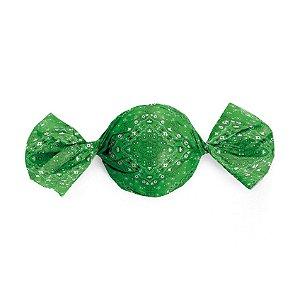 Embalagem Trufa 15x16cm - Bandana Verde - 100 unidades - Cromus - Rizzo Confeitaria