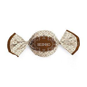 Papel Trufa 14,5x15,5cm - Gostosura Beijinho - 100 unidades - Cromus - Rizzo Confeitaria