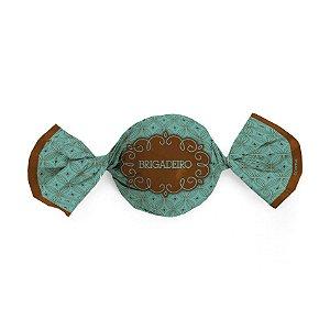 Papel Trufa 14,5x15,5cm - Gostosura Brigadeiro - 100 unidades - Gourmet - Cromus - Rizzo Confeitaria