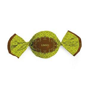 Papel Trufa 14,5x15,5cm - Gostosura Limao - 100 unidades - Cromus - Rizzo Confeitaria