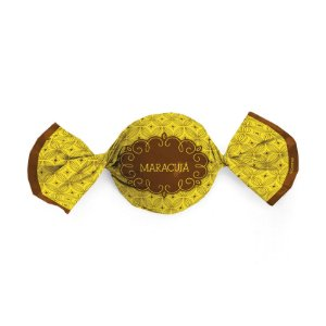 Embalagem Trufa 15x16cm - Gostosura Maracujá - 100 unidades - Cromus - Rizzo Confeitaria