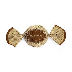 Papel Trufa 14,5x15,5cm - Gostosura Tradicional Ouro - 100 unidades - Cromus - Rizzo