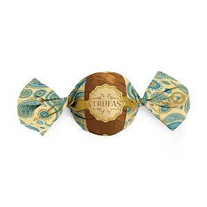 Embalagem Trufa 15x16cm - Dulce Azul - 100 unidades - Cromus - Rizzo Confeitaria