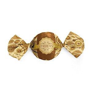 Embalagem Trufa 15x16cm - Dulce Marrom - 100 unidades - Cromus - Rizzo Confeitaria