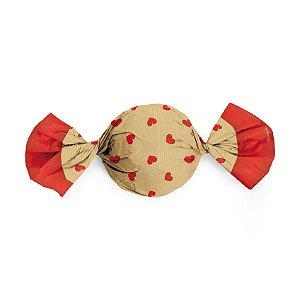 Embalagem Trufa 15x16cm - Coração Nice - 100 unidades - Cromus - Rizzo Confeitaria