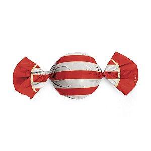 Embalagem Trufa 15x16cm - Náutico Vermelho - 100 unidades - Cromus - Rizzo Confeitaria