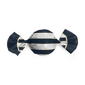 Embalagem Trufa 15x16cm - Náutico Azul - 100 unidades - Cromus - Rizzo Confeitaria