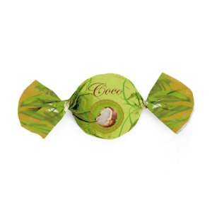 Embalagem Trufa 15x16cm - Sabor Coco - 100 unidades - Cromus - Rizzo Confeitaria