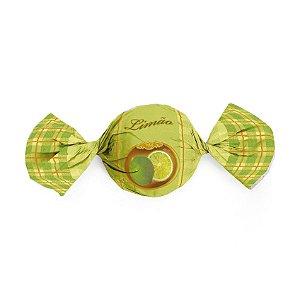 Embalagem Trufa 15x16cm - Sabor Limão - 100 unidades - Cromus - Rizzo Confeitaria