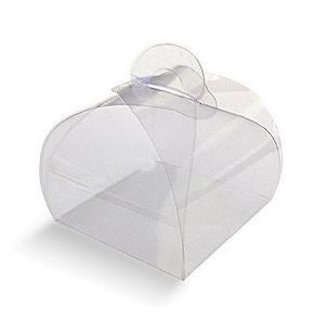 Caixa de Acetato Transparente para Bem Casado - 6,5x5,5x6,5cm - 20 unidades - CAC - Rizzo Confeitaria