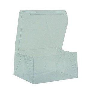 Caixa de Acetato Transparente M06 (12x11x6cm) - 20 unidades - CAC - Rizzo Confeitaria