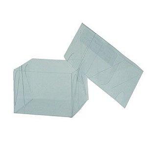Caixa de Acetato Transparente M14 (6x6x3,5cm) - 20 unidades - CAC - Rizzo Confeitaria