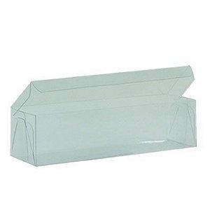 Caixa de Acetato Transparente M15 (13x4x3,5cm) - 20 unidades - CAC - Rizzo Confeitaria