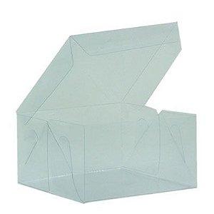 Caixa de Acetato Transparente Ref. 21D (12x12x6cm) - 20 unidades - CAC - Rizzo Confeitaria