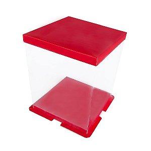 Caixa para Panetone 500g 16cm Vermelha com 4 un. Eluhe Rizzo Confeitaria