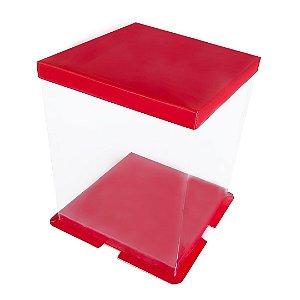 Caixa para Panetone 1kg 20cm Vermelha com 4 un. Eluhe Rizzo Confeitaria