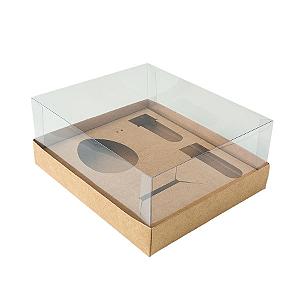 Caixa Ovo de Colher Kit Confeiteiro - Meio Ovo de 100g a 150g - 20,5cm x 17cm x 6,5cm - Kraft - 5unidades - Assk - Páscoa Rizzo Confeitaria