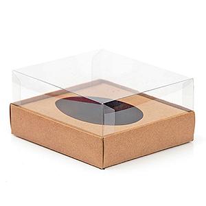 Caixa Ovo de Colher - Meio Ovo de 350g - 20,5cm x 17cm x 6,5cm - Kraft - 5unidades - Assk - Páscoa Rizzo Confeitaria