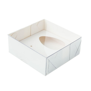 Caixa Ovo de Colher - Meio Ovo de 50g - 10cm x 10cm x 4cm - Branca - 5unidades - Assk - Páscoa Rizzo Confeitaria