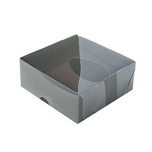 Caixa Ovo de Colher - Meio Ovo de 50g - 10cm x 10cm x 4cm - Marrom - 5unidades - Assk - Páscoa Rizzo Confeitaria