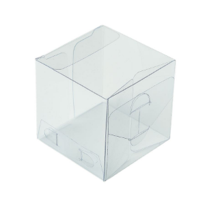 Caixa Cubo Transparente K6 (5cm x 5cm x 5cm) 20 unidades Assk Rizzo Confeitaria