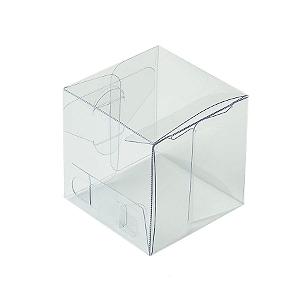 Caixa Cubo Transparente K9 (4cm x 4cm x 4cm) 20 unidades Assk Rizzo Confeitaria