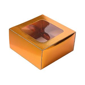 Caixa Gaveta com Visor Nº1 (8cm x 8cm x 4cm) Cobre 10 unidades Assk Rizzo Confeitaria