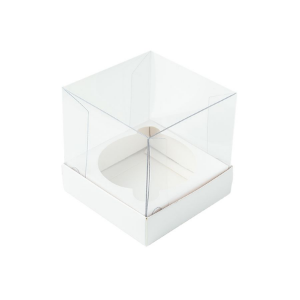 Caixa Mini Bolo G (8cm x 8cm x 8cm) Branca 10 unidades Assk Rizzo Confeitaria