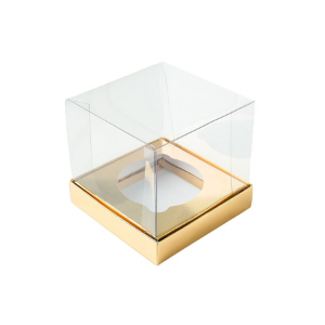 Caixa Mini Bolo G (8cm x 8cm x 8cm) Dourada 10 unidades Assk Rizzo Confeitaria