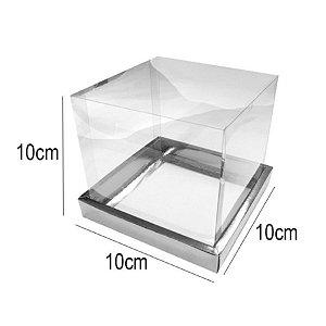 Caixa para Panetone 100g 10cm x 10 Prata 10 unidades Assk Rizzo Confeitaria