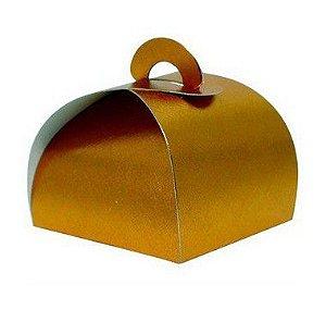 Caixa Bem Casado Bronze Texturizado - 6,5x6,5x5,5cm - 12 unidades - Assk - Rizzo Confeitaria