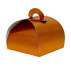 Caixa Bem Casado Cobre Texturizado - 6,5x6,5x5,5cm - 12 unidades - Assk - Rizzo Confeitaria