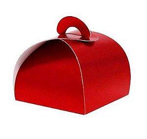 Caixa Bem Casado Vermelho Texturizado - 6,5x6,5x5,5cm - 12 unidades - Assk - Rizzo Confeitaria