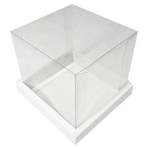 Caixa para Bolo (20cm x 20cm) Branca - 1 unidade - Assk Rizzo Confeitaria